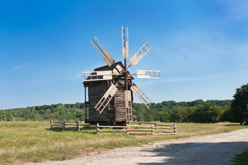 Grinding mill. Traditional architecture in Ukraine