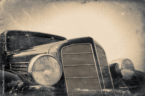 Foto op Aluminium Vintage cars fragment of old car, vintage stylized
