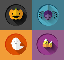 Halloween Inspired flat iIllustrations