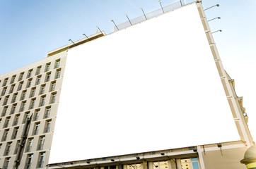 Werbetafel an Gebäude