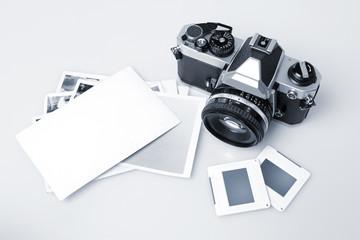 Retro Camera & Blank Photopaper