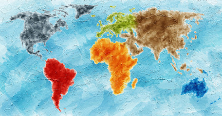painted WorldMap