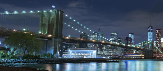 Brooklyn Bridge at night New York City