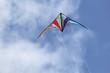 Leinwanddruck Bild - Drachen bei starkem Wind