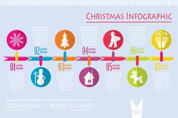 Christmas infographic, vector