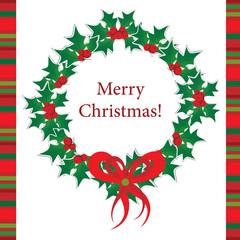 Template Christmas greeting card,  vector