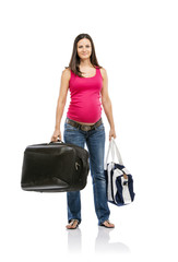 Pregnant woman travelling