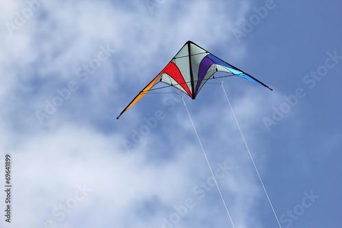 Leinwanddruck Bild Drachen bei starkem Wind