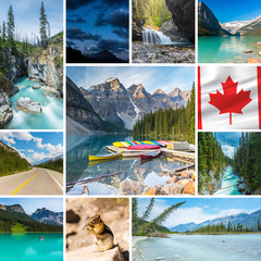 Kanada urlaub moraine lake banff set collage