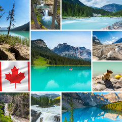 Canada banff jasper national park collage