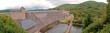 Leinwanddruck Bild - Die monumentale Ederseetalsperre in Nordhessen