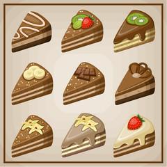 Set of cakes.