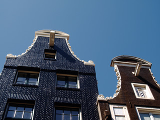 vintage houses in Amsterdam