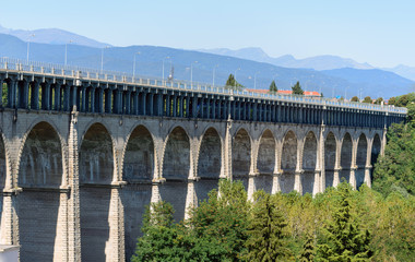 Ponte promiscuo stradale e ferroviario - Cuneo