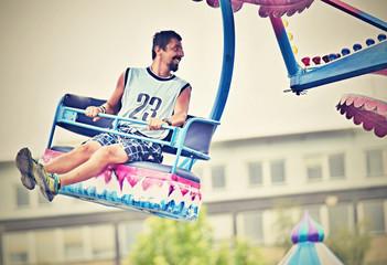 Man in carrousel