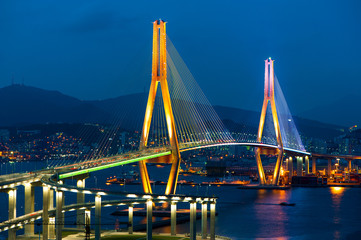 Busan Harbor Bay Bridge