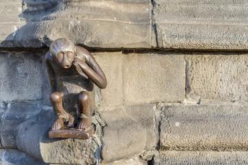Guardhouse Monkey statue in Mons, Belgium.