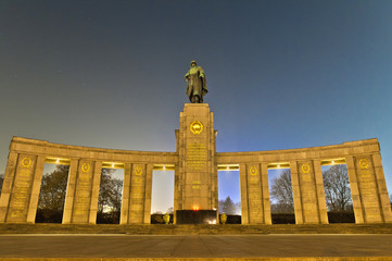 The Sowjetische Ehrenmal at Berlin, Germany