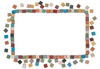 Square multicolor limestone frame