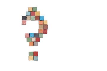 multicolor stone question sign