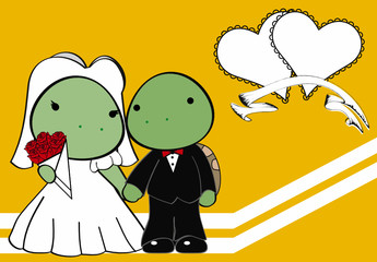 turtle married cartoon background