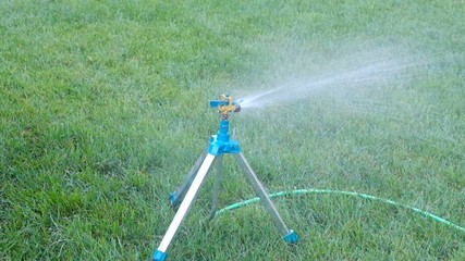 Irrigation system - technique of watering in the garden. Lawn