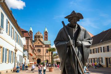 Speyer Dom und Pilger
