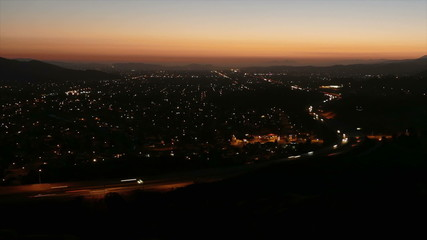 Simi Valley Dusk Time Lapse with Zoom