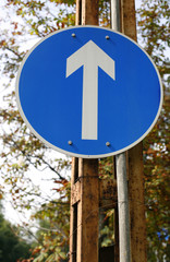 Traffic signs warning signs and traffic lines