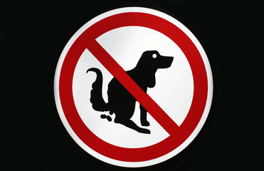 Pooping dog sign. Stoop & scoop sign
