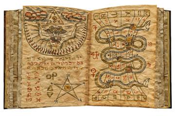 Magic book isolated 2