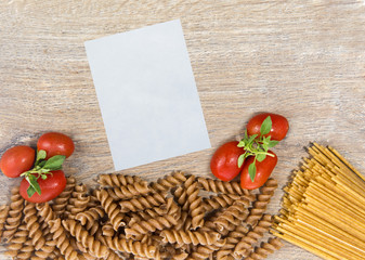 Pasta with note