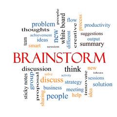 Brainstorm Word Cloud Concept