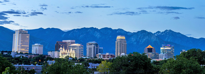 Salt Lake Cuty Utah skyline © knowlesgallery