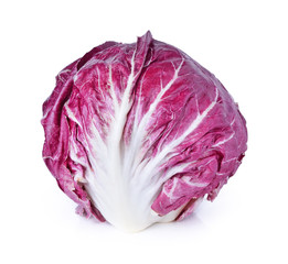 Radicchio, red salad isolated on white