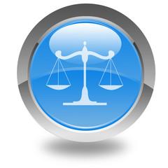 balance de la justice sur bouton
