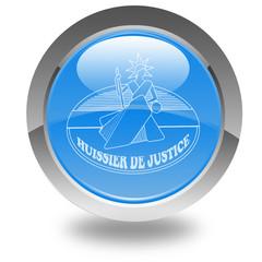 logo des huissiers de justice sur bouton