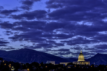Unique view of the Utah state capital