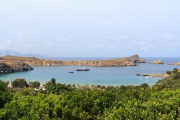 Bucht in Lindos auf Rhodos