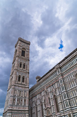Bell tower of Santa Maria cathedral in Florence, Tuscany