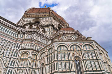Details of Santa Maria del Fiore cathedral in Florence, Tuscany