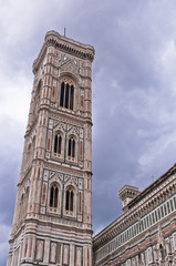 Bell tower of Santa Maria cathedral in Florence,Tuscany