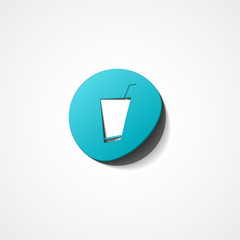 Soft drink web icon on