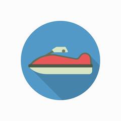 jet ski icon illustration