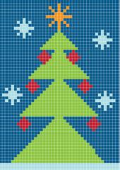 digital christmas tree background
