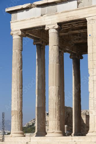 Fotobehang Athene Acropolis of Athens. Erechtheion columns. Greece