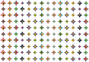 abstract vector background with bright shapes