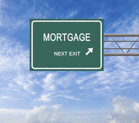 Road sign to mortgage
