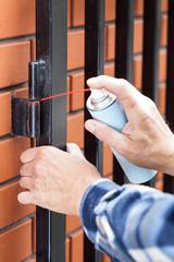 Man repairing a lock