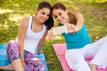 Selfie at our yoga class